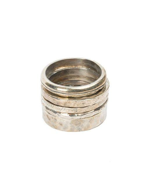 Tobias Wistisen   Metallic Textured Ring Set for Men   Lyst