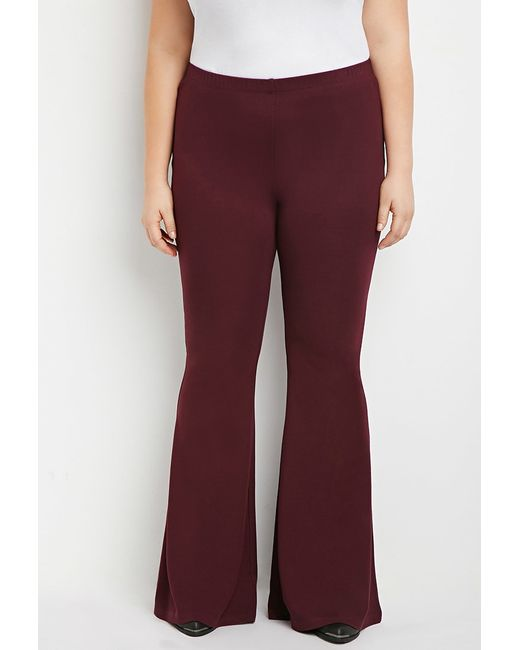 Forever 21 | Purple Plus Size Flared Knit Pants | Lyst