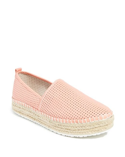 Steve Madden | Pink Perforated Faux Leather Slip-on Sneakers | Lyst
