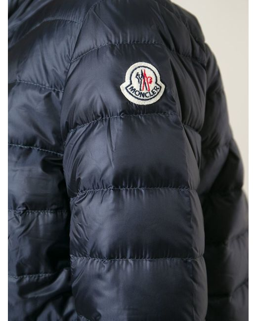 Moncler - Navy Blue Lans Nylon Down Jacket - Lyst
