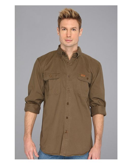 Carhartt Sandstone Oakman Work Shirt Tall In Natural For