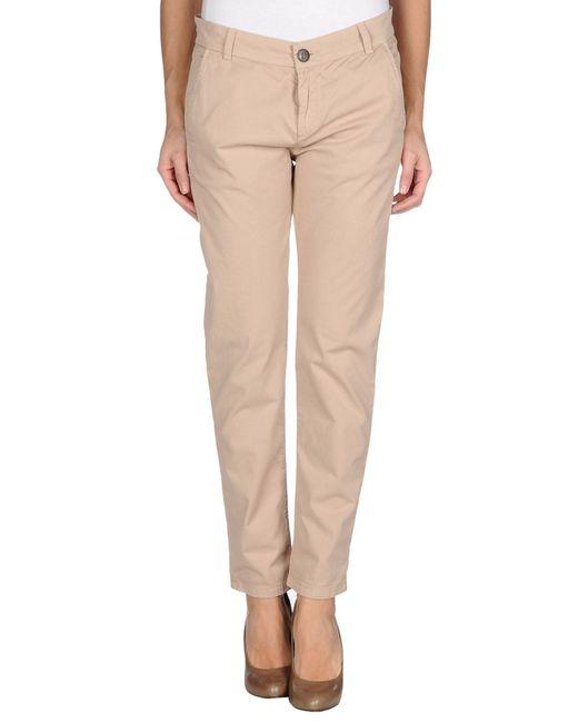 Twin set Casual Trouser in Beige (Skin colour) | Lyst