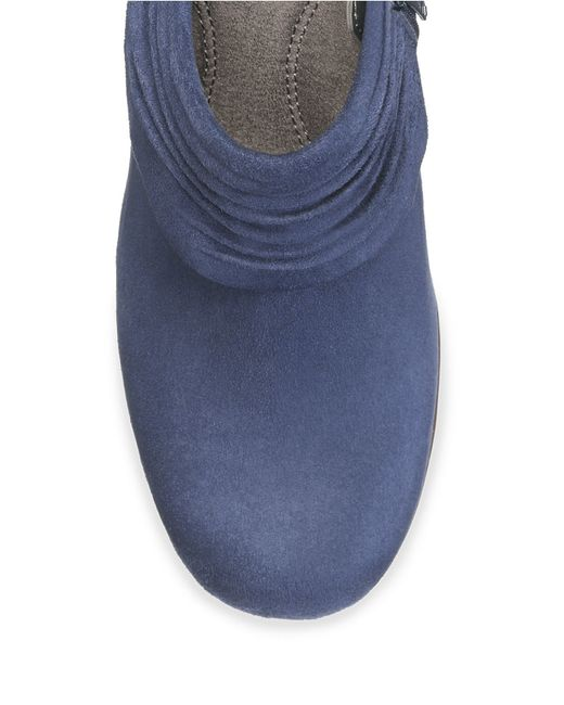 Aerosoles   Blue Starring Role Suede Booties   Lyst