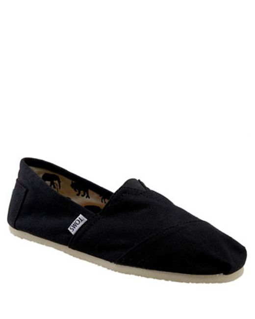TOMS | Black 'classic' Canvas Slip-on for Men | Lyst