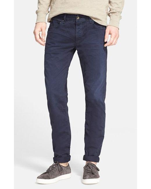 Rag & Bone | Blue Standard Issue 'fit 2' Slim Fit Five-pocket Pants for Men | Lyst