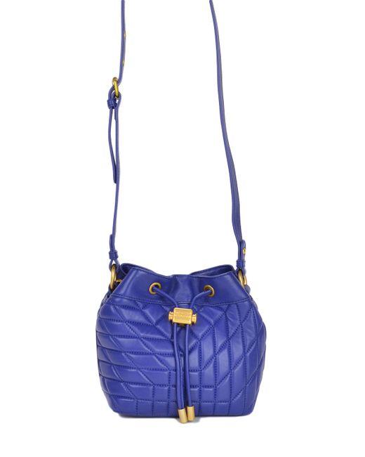 Badgley Mischka | Blue Clarissa Nappa Bucket Handbag | Lyst