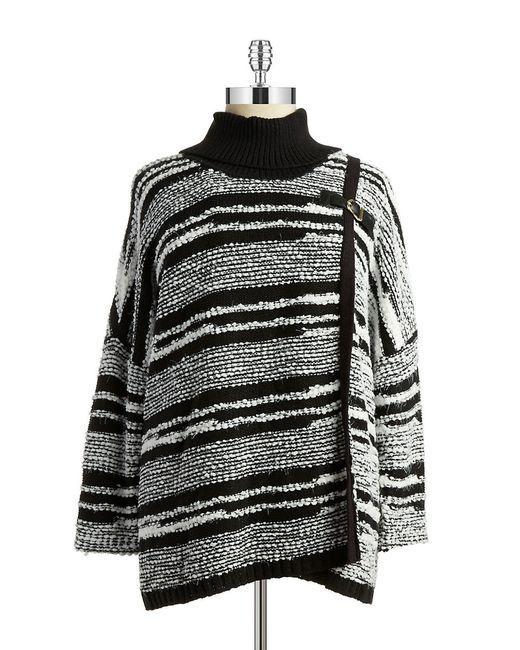 Calvin Klein | Black Cowlneck Wrap Sweater | Lyst