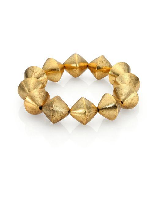 Nest | Metallic Beaded Stretch Bracelet | Lyst