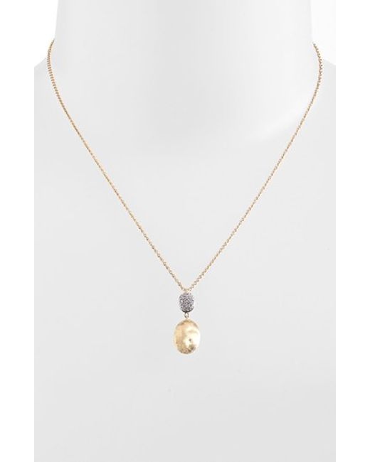 Marco Bicego | Yellow 'siviglia' Diamond Pendant Necklace | Lyst