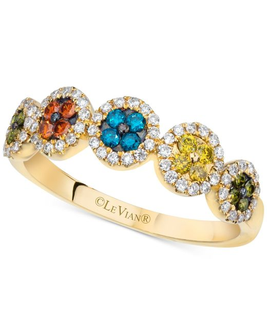 Le Vian | Exotics® Multicolor Diamond Ring (3/8 Ct. T.w.) In 14k Gold | Lyst
