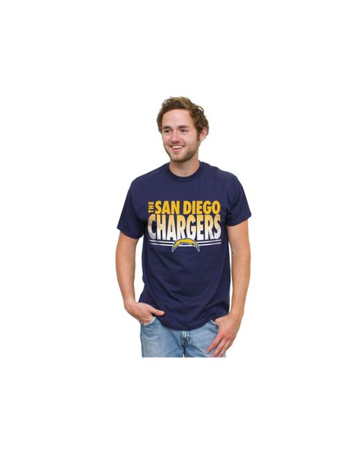 San Diego Chargers Dress: Junk Food Men's San Diego Chargers Fresh Fade T-shirt In