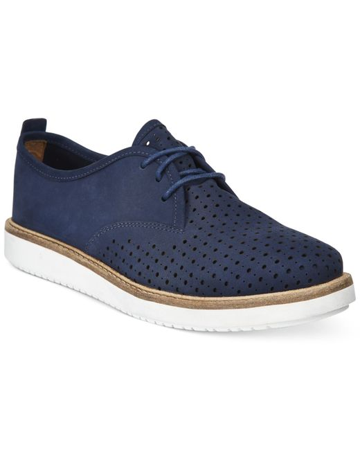 Womens Lace Up Nubuck Shoes Blue