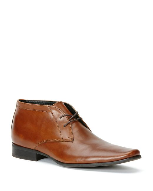 Calvin Klein | Brown Ballard Leather Chukkas for Men | Lyst