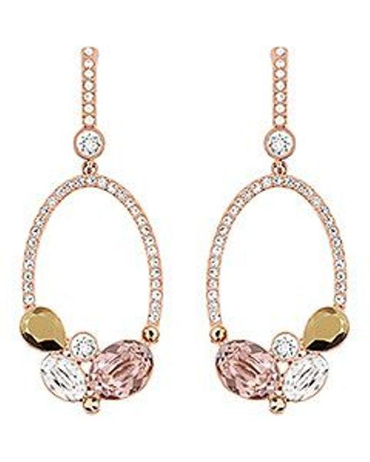 Swarovski | Multicolor Branch Pierced Earrings | Lyst
