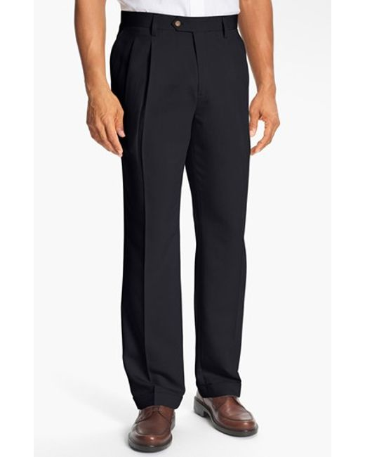 Cutter & Buck | Blue Double Pleated Microfiber Pants for Men | Lyst