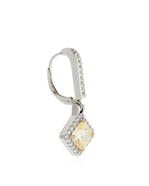 Carat* | Metallic Border Set Princess Drop Earrings | Lyst