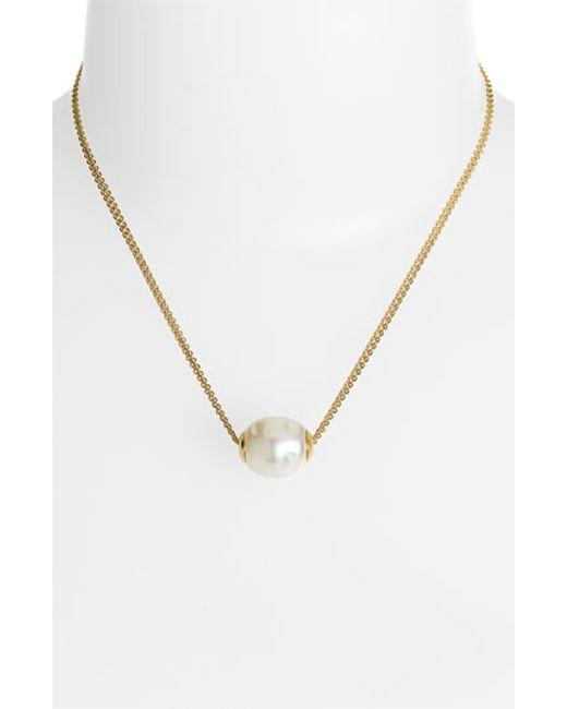 Majorica | Metallic 12mm Baroque Pearl Pendant Necklace | Lyst