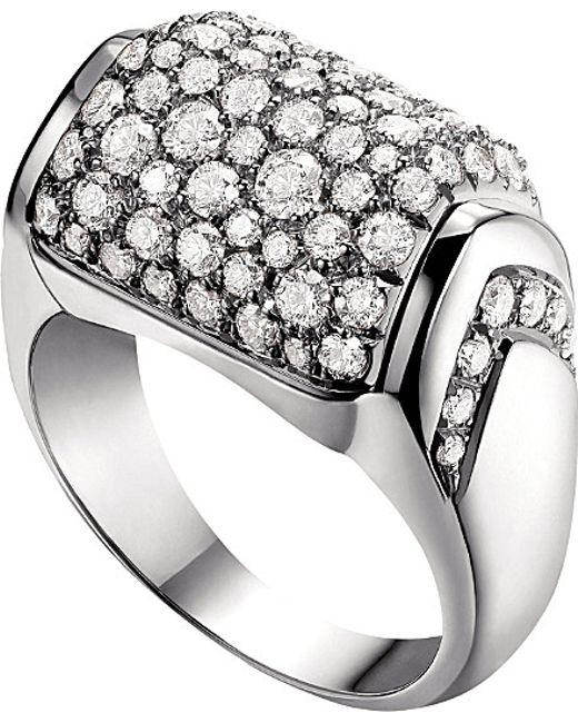 BVLGARI | Metallic Mvsa 18ct White-gold Ring | Lyst