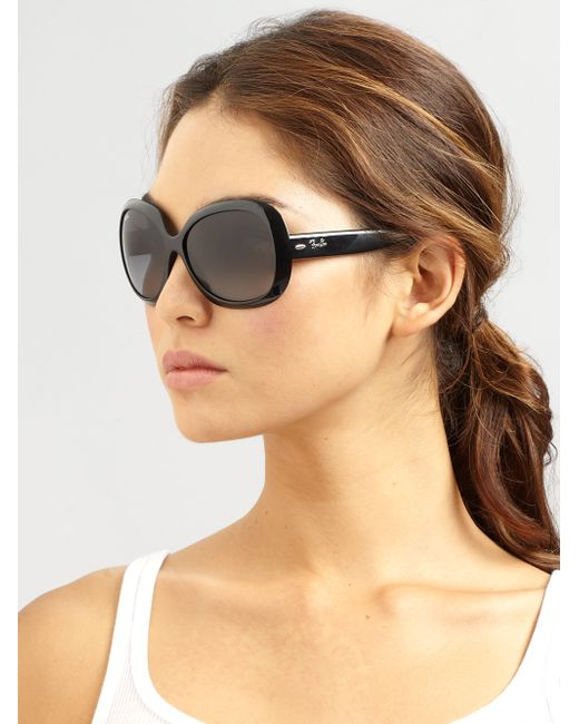 Ray Ban Vintage Oversized Round Jackie Ohh Sunglasses In