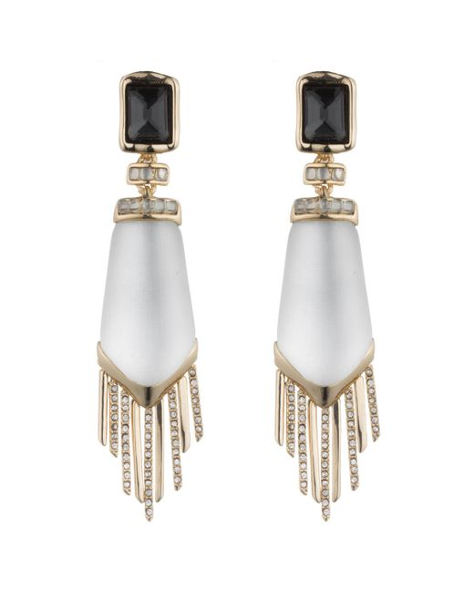 Alexis Bittar | Metallic Fringe Pyramid Clip Earring With Cabochon Cushion Accent You Might Also Like | Lyst