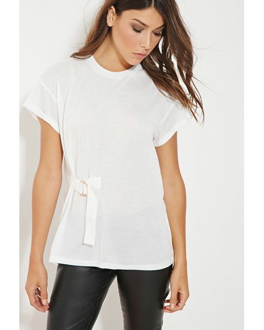 Forever 21 | White Minty Meets Munt Beauty Tee | Lyst