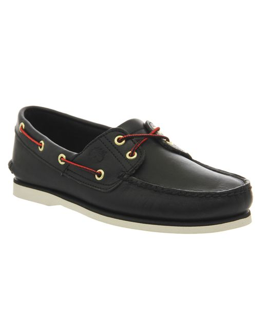 timberland new boat shoes in black for lyst