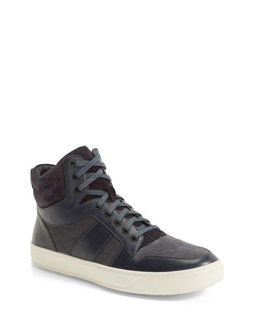 VINCE | Blue 'Adam' High Top Sneaker for Men | Lyst