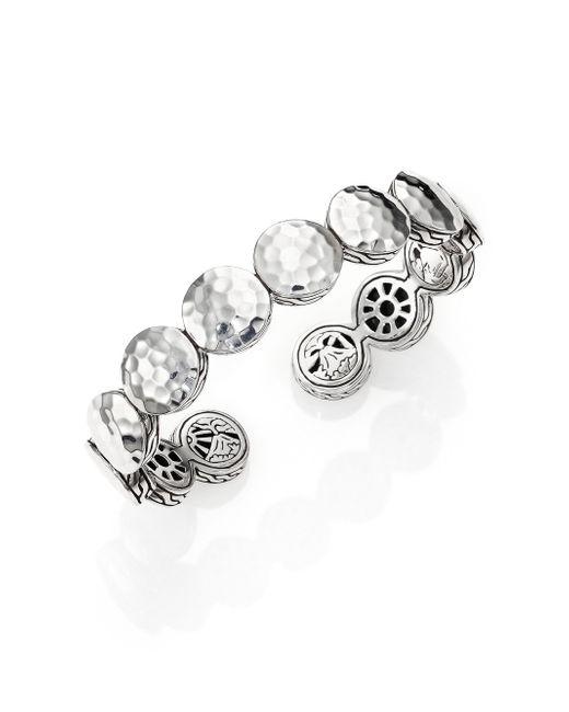 John Hardy | Metallic Palu Sterling Silver Flex Cuff Bracelet | Lyst