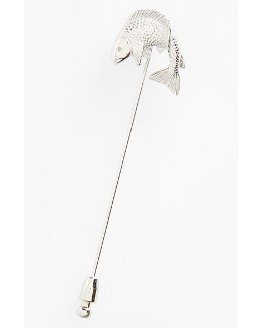 Lanvin | Metallic Fish Lapel Pin | Lyst
