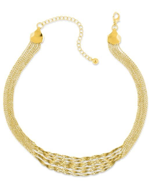 2028 | Metallic Gold-tone Twisted Multi-chain Strand Necklace | Lyst