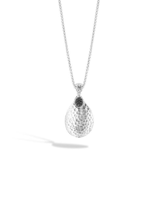 John Hardy | Classic Chain Hammered Pendant Necklace With Black Sapphire | Lyst
