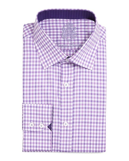 English laundry gingham check dress shirt in pink for men for Men s red gingham dress shirt