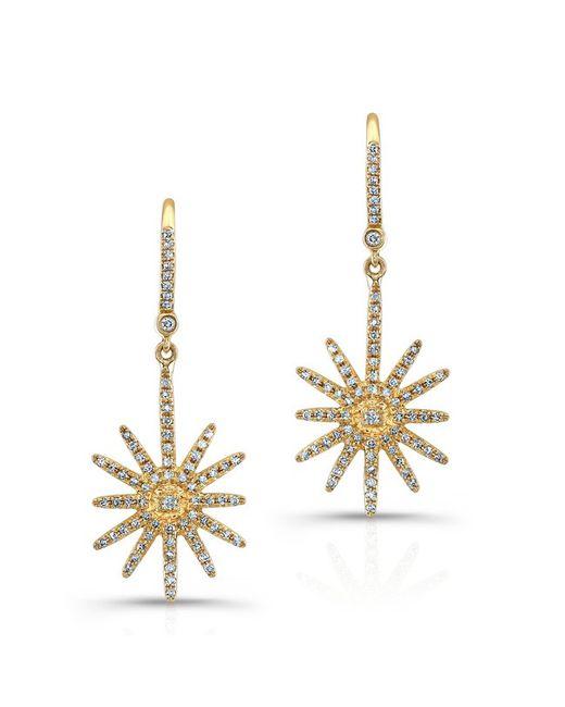 Anne Sisteron | Metallic 18kt Yellow Gold Diamond Nouveau Starburst Earrings | Lyst