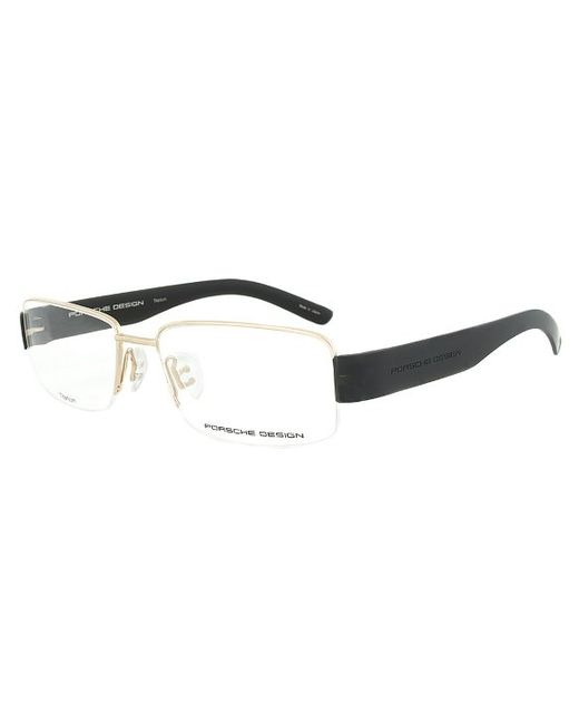 Black And Gold Eyeglass Frames : Porsche design Design P8203 A Titanium Gold And Black ...
