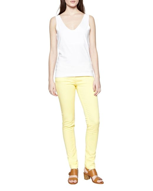 Great Plains | Yellow Colour Me Skinny Jeans | Lyst
