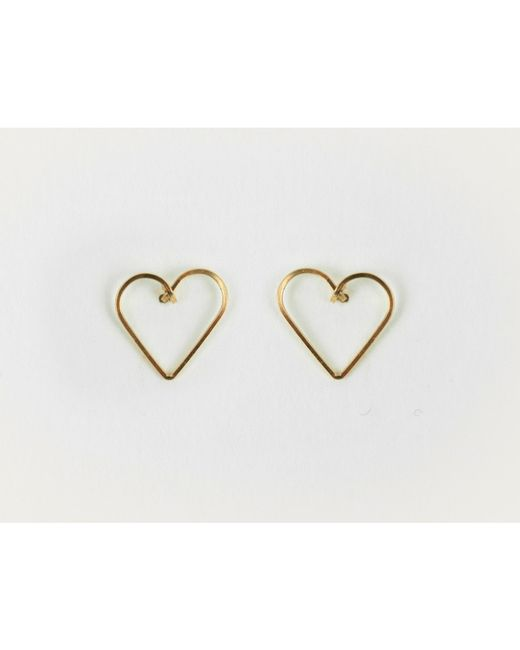 By Philippe | Metallic Small Heart Stud Earrings | Lyst
