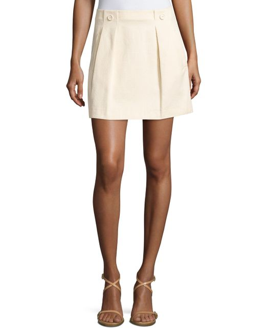 see by chlo 233 pleated a line skirt in beige save 34 lyst