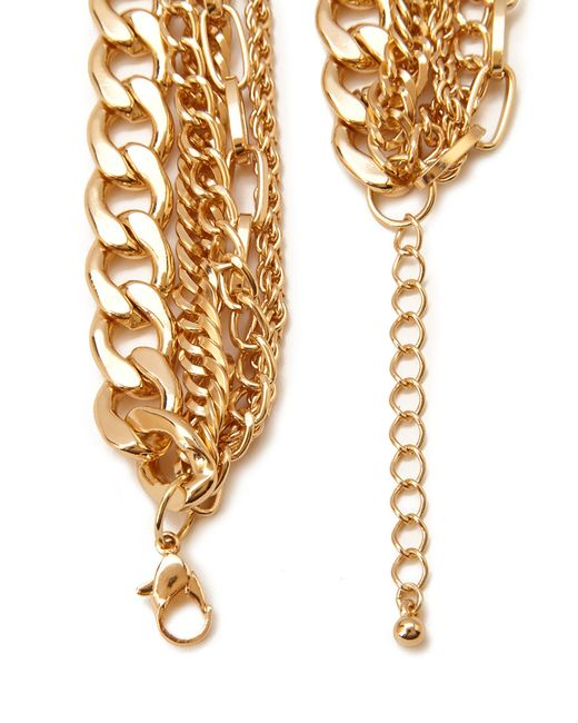 Forever 21 | Metallic Layered Chain Statement Necklace | Lyst