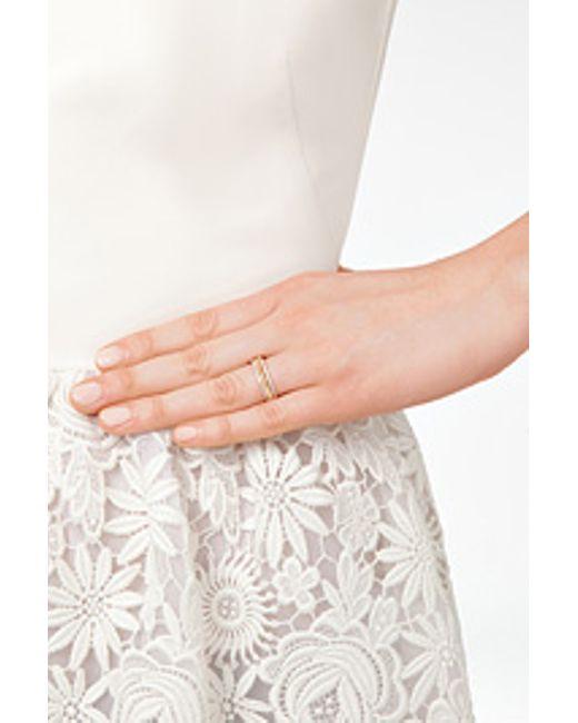 Ileana Makri | 18kt Pink Gold Triple Bond Band With White Diamonds | Lyst