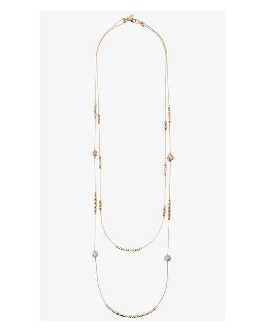 Express | Metallic Layered Chain Necklace | Lyst