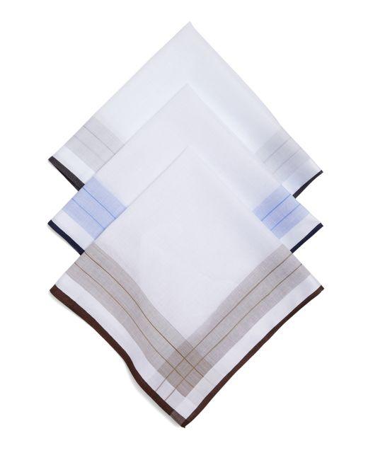 Brooks Brothers | White Cotton Handkerchiefs - 3Pk for Men | Lyst