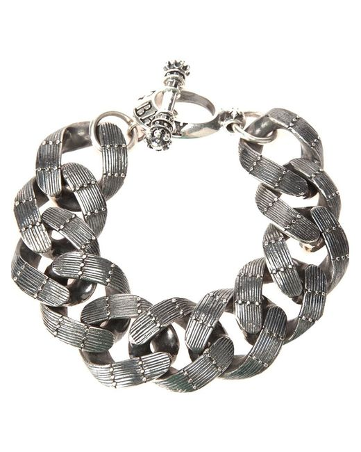 King Baby Studio | Gray Textured Chain Link Bracelet | Lyst