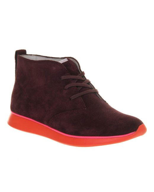 clarks juno hi ankle boots in black wine save 50 lyst