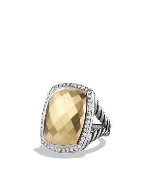 david yurman albion ring with diamonds and gold in silver