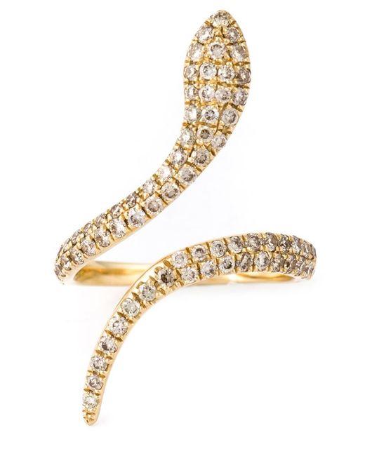 Elise Dray   Metallic Snake Pinkie Ring   Lyst