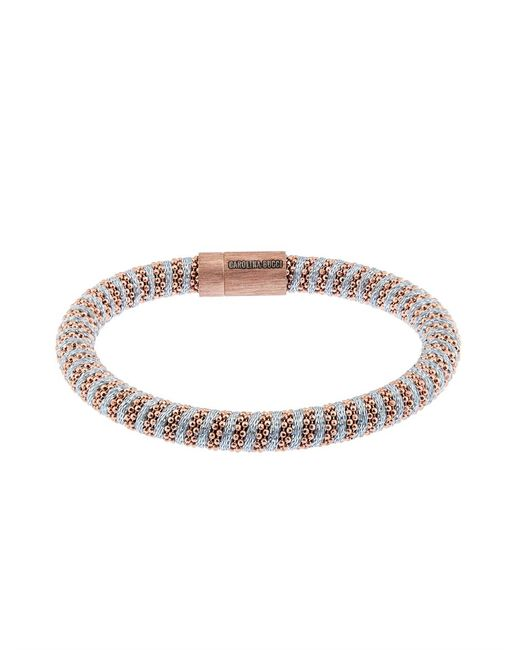 Carolina Bucci | Pink Twister 18-karat Rose Gold Plated And Silk Bracelet | Lyst