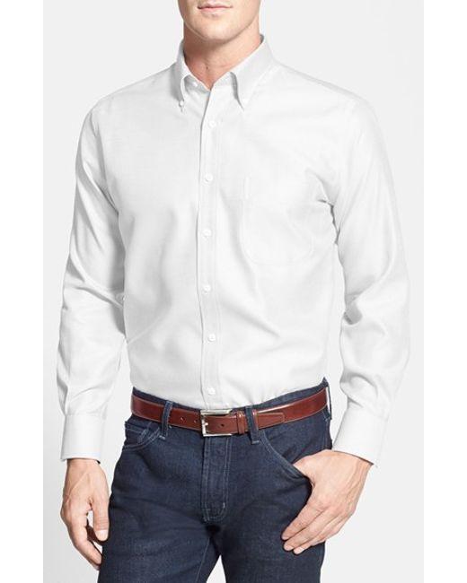 Peter Millar | Blue 'nanoluxe' Regular Fit Wrinkle Free Sport Shirt for Men | Lyst