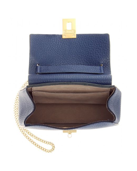 Chlo�� Drew Mini Leather Shoulder Bag in Blue | Lyst