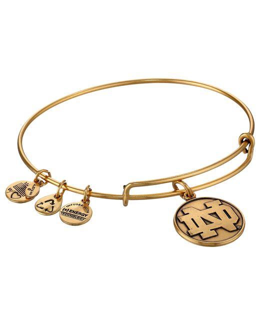 ALEX AND ANI | Metallic University Of Notre Dame Logo Charm Bangle | Lyst
