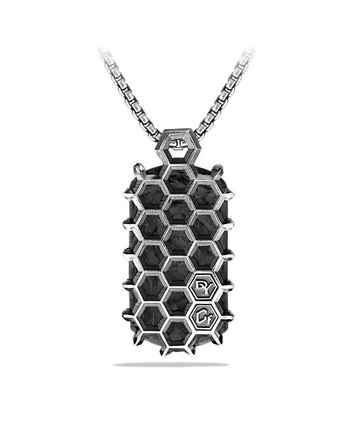 David Yurman | Black Forged Carbon Honey Comb Tag for Men | Lyst